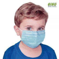 Máscara Infantil Cirúrgica Descartável Dupla Camada Com Filtro
